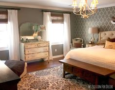 my passion for decor master bedroom makeover using cutting edge stencils room painted with benjamin - Home Goods Wall Decor