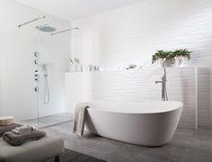 Accrocher le regard avec un carrelage en 3D dans la salle de bains - Salle de bains : les nouvelles tendances - CôtéMaison.fr