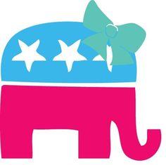 Republican Lilly Elephant Sticker!