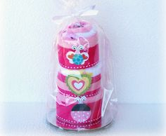washcloth cupcake tier
