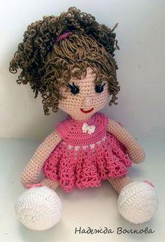 Девочки может кто нибудь захочет связать такую куколку Автор этой очаровашки - Надежда Волкова        Для тела нам понадобится пряжа Котон Голд от Ализе, 50 г, крючок 2