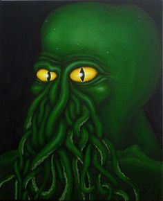 Cthulhu. Oil on canvas. approx. 35x45cm.