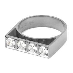 MEHEM silver ring cubic zirconia MH121-JR170-601 #mehem #ring #silver #rhodiumplated #cubiczirconia #em #emgrp