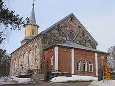 Vuonna 1860 valmistunut Jean Wiikin suunnittelema Karjalohjan kirkko.