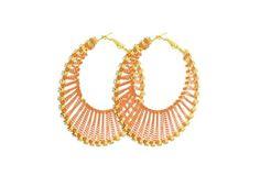 Mandarin Chain Weave Hoops $6.00