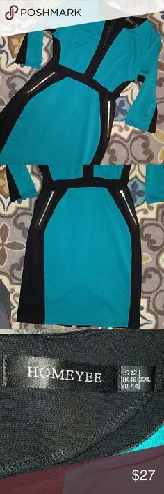 The Famous Weather Girl dress This dress is the talk of the town. Made famous for its universally flattering fit. True to size, fits like a large. So figure flattering. Good used condition Homeyee Dresses