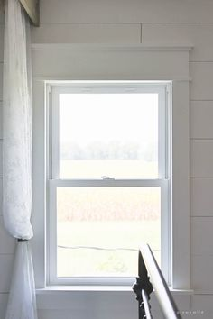 A little trim goes a long way into making windows more impressive in this farmhouse style window trim. See the other farmhouse ideas, too! Farmhouse Style Decorating, Farmhouse Windows, Farmhouse Window Trim, Farmhouse Trim, Window Design, Windows, Farmhouse Furniture Diy, Farmhouse Wall, Farmhouse Furniture