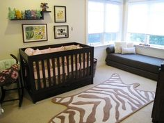 daybed shown here could work in the nursery. Seemingly small footprint. Find source.
