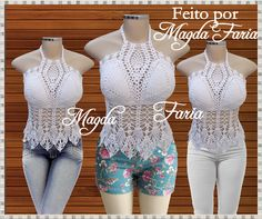 Frente única, top  cropped  top cropped  top croche  top crochet  cropped croche…