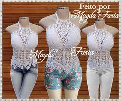 Crochê  Magda Faria  : ♡♡♡  Cropped Lenora  ♡♡♡
