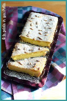 Ho preparato questa torta della nonna mettendo insieme due ricette: la pasta frolla di Adriano e la crema pasticcera da forno di Montersino