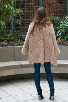 outfit of the day // teddy bear coat