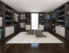 Custom Walk-In Closet Organizers Closet Companies, Custom Walk In Closets, Decorative Panels, Closet Organization, Warm, Cool Stuff, Home Decor, Live, Decoration Home