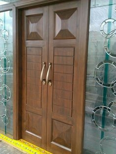 Fancy Interior Wooden Gate Designs Photos - Wooden - Home Garden Decoration Wooden Gate Designs, Wooden Front Door Design, Double Door Design, Home Door Design, Pooja Room Door Design, Door Design Interior, Interior Doors, Exterior Design, Wooden Double Doors