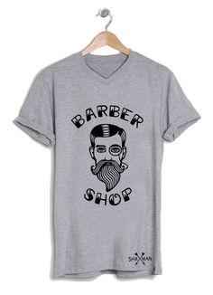 Tee shirt Barber shop barbe homme Shaman