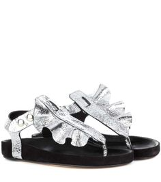ISABEL MARANT Leakey Leather And Suede Sandals. #isabelmarant #shoes #sandals