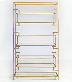 Lamar Gold Leaf Etagere $3125 - Chicago http://furnishly.com/catalog/product/view/id/1610/s/lamar-gold-leaf-etagere/
