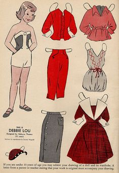 Wee Wisdom paper dolls |Debbie Lou | Flickr - Photo Sharing!