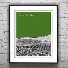 Napa Valley Poster Print Art California Skyline by AnInspiredImage, $19.00