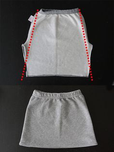 how to refashion sweatpants into a cute kangaroo pocket skirt - easy sewing tutorial I can do this with adult sweat pants as well :)