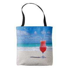 Beautiful Tropical Punch Daiquiri Caribbean Beach Tote Bag