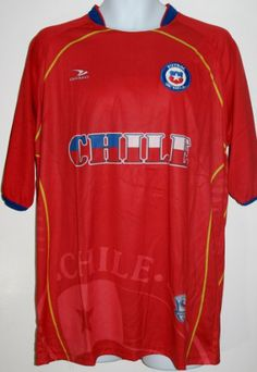 CHILE SOCCER JERSEY T-SHIRT RED L LARGE FOOTBALL WORLD CUP 2014 FIFA  CAMISETA REMERA 302d343bc