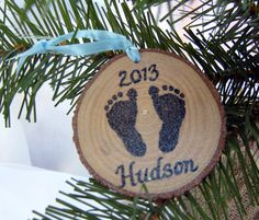 PERSONALIZED BABY ORNAMENT Babys First Christmas by HudsonBlockCo, $7.00