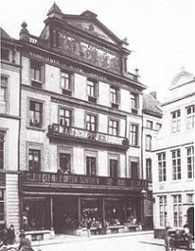 Gent - ons huis op de vrijdagsmarkt voor de brand van 1887