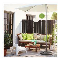 ÄPPLARÖ / HÅLLÖ 3-pers. sofa, ude - brun bejdse/beige - IKEA, 2.490,-
