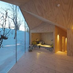 This Lodge has a Perfect Sleeping Nook Hideout