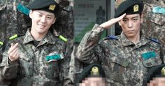 """Pictures of BIGBANG's T.O.P and JYJ's Junsu in their military uniforms have been released for the first time by media. The two artists officially enlisted on February 9 and were spotted together at the """"Nonsan Army Bootcamp"""" opening ceremony. T.O.P and Junsu spoke to each other briefly before joining the rest of the Korean men enlisting on the same day..."""