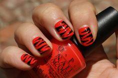 zebra nail polish red color Nail Polish Ideas