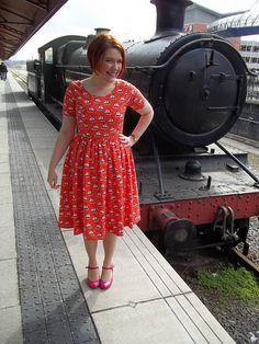 Come Sail Away dress - By Hand London Elisalex dress with a gathered skirt