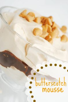 Butterscotch Pudding Mousse - Something Swanky
