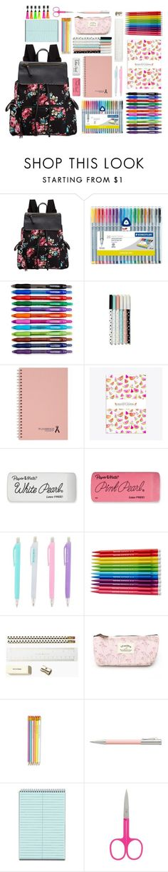 """#42 Back To School Supplies (3)"" by konstantina00085 ❤ liked on Polyvore featuring interior, interiors, interior design, home, home decor, interior decorating, Madden Girl, Paper Mate, Mead and Kate Spade"