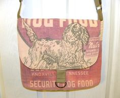 Rare vintage Security Mills dog food feed sack by LoriesBags