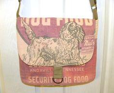 Rare vintage Security Mills dog food feed sack by LoriesBags
