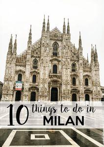 10 things to do in Milan