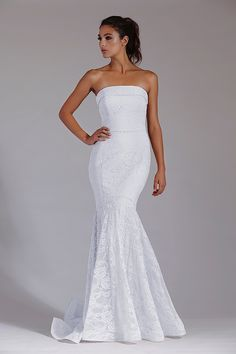 - The Bridal Company Strapless Dress Formal, Formal Dresses, Bridal Dresses, Fashion, Moda, Bridal Gowns, Formal Gowns, Bride Gowns, Fasion