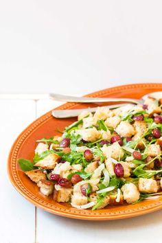 Roasted Grape Panzanella Salad