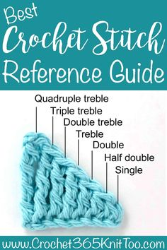 Now that you've learned a few stitches, let's take a look at crochet stitch heights. As you might remember, a double crochet requires one yarn over before inserting the hook into the next stitch… Easy Crochet Stitches, Crochet Simple, Crochet Stitches For Beginners, Crochet Diy, Tunisian Crochet, Crochet Videos, Crochet Basics, Crochet Crafts, Double Crochet