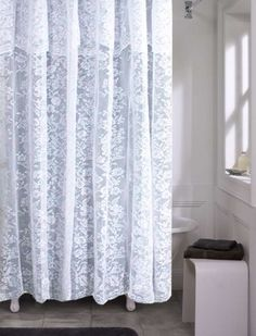 Romance White Lace Shower Curtainit Would Be Perfect If It