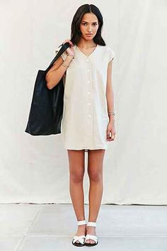 Mixed Business Open Back Tunic - Urban Outfitters