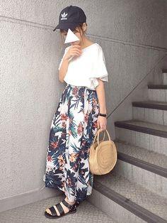 Instagram...dayofme0607 (yumi.) code...このスカート、ボリュ