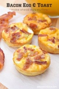 Make ahead Bacon, Egg, and Toast muffins - recipe and tutorial -- SO good and so easy