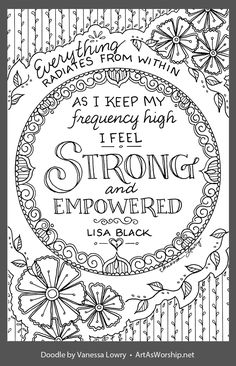 Quote Coloring Pages, Coloring Pages Inspirational, Free Adult Coloring Pages, Colouring Pages, Free Coloring, Coloring Sheets, Coloring Books, Hand Lettering Quotes, Typography Quotes