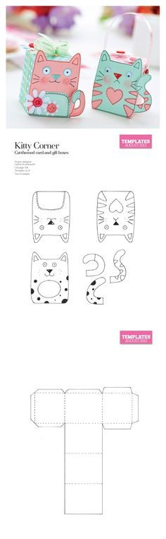 Kitty Cat treat boxes; so cute!!