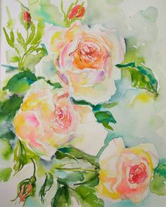 Check out this item in my Etsy shop https://www.etsy.com/listing/501324601/david-austeen-roses-original-watercolor