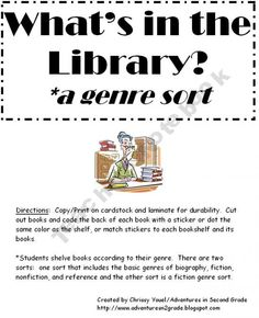 WHat's in the library?tEveryday-Adventures Shop - | Teachers Notebook