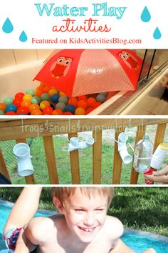 5 Fun Water Play Activities for summer!  OK, one of them is for a rainy day...